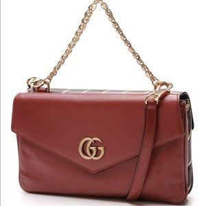 Thiara Medium Double Envelope Bag Black/Red